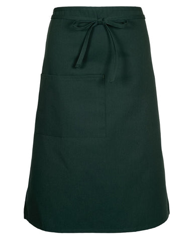 Full Bistro Apron With One Patch Pocket Hunter Green - Fashion Designz Uniforms