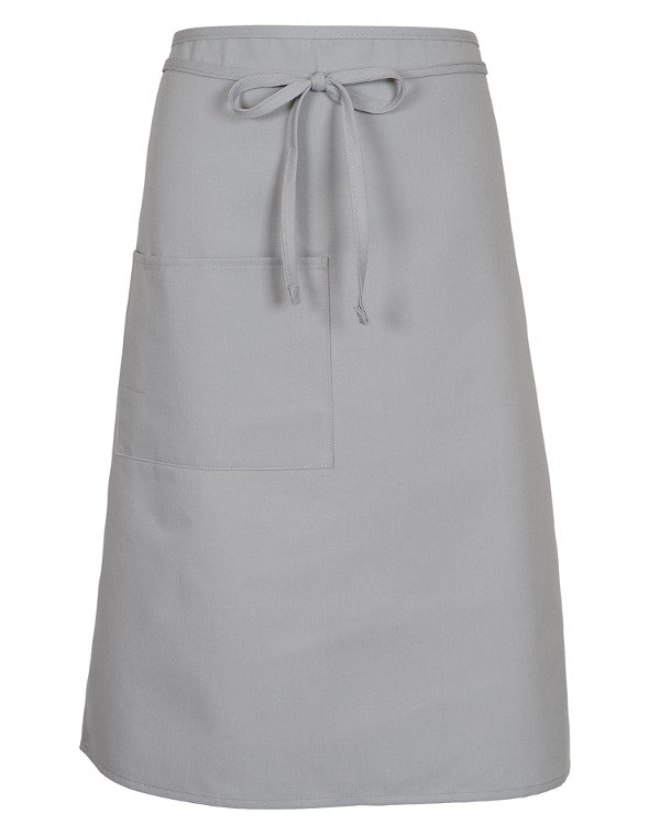 Full Bistro Apron With One Patch Pocket Sliver Color - Fashion Designz Uniforms