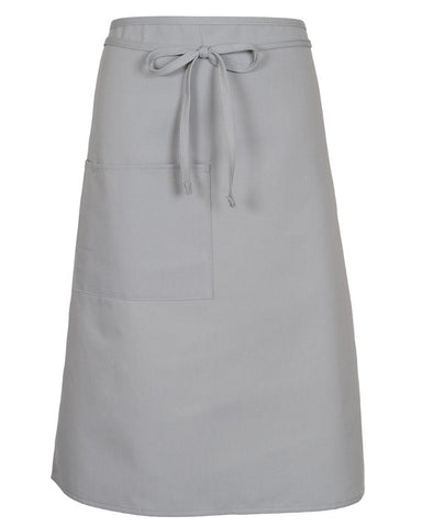 Full Bistro Apron With One Patch Pocket Sliver Color