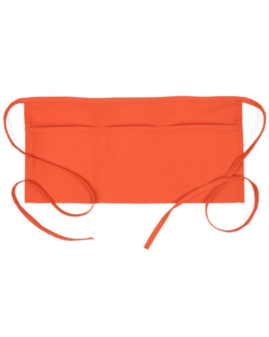 Three Pocket Waist Apron Orange Color - Fashion Designz Uniforms
