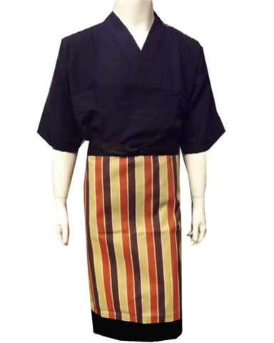 Fashionable Bistro Apron with Stripes - Fashion Designz Uniforms