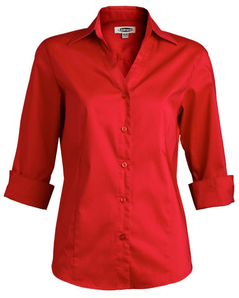 Women 3/4 Sleeve Stretch Blouse - Fashion Designz Uniforms