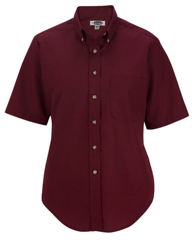 Ladies' Easy Care Poplin Shirt-Short Sleeve - Fashion Designz Uniforms