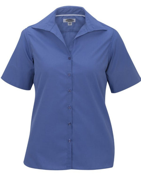 Ladies' Lightweight Poplin Blouse-Short Sleeve - Fashion Designz Uniforms