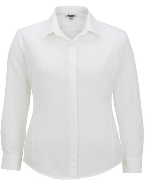Ladies' Batiste Café Long Sleeve Blouse - Fashion Designz Uniforms