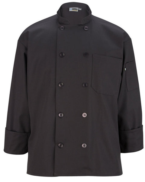 Long Sleeve Classic full cut chef coat with 10 matching buttons Grey Color - Fashion Designz Uniforms