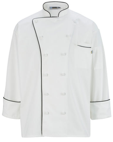High Quality Classic 12 Cloth Button Chef Coat with Trim - Fashion Designz Uniforms