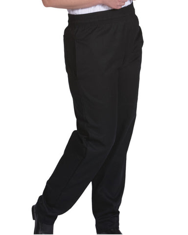 Basic Baggy Chef Pant with performance fabric Black Color - Fashion Designz Uniforms
