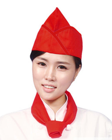Adjustable Chef Garrison Hat Red Color