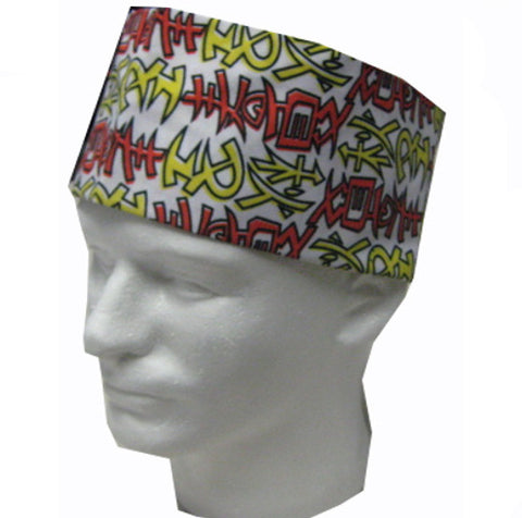 Sushi Chef Mesh Top Skull Hat Japanese Symbol FOUR SEASON Prints - Fashion Designz Uniforms