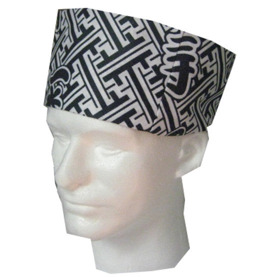 Sushi Chef Skull Caps with Japanese Symbols longevity - Fashion Designz Uniforms
