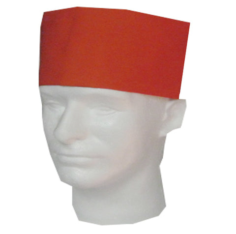 Chef Skull Caps Orange Color - Fashion Designz Uniforms