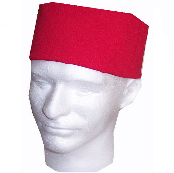 Chef Skull Caps Red Color - Fashion Designz Uniforms