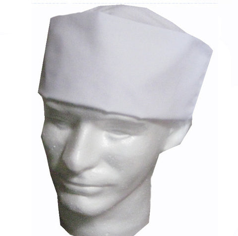 Chef Mesh Top Skull Hat White Color - Fashion Designz Uniforms