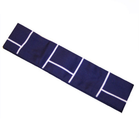 Sushi chef headband Square prints on dark blue - Fashion Designz Uniforms