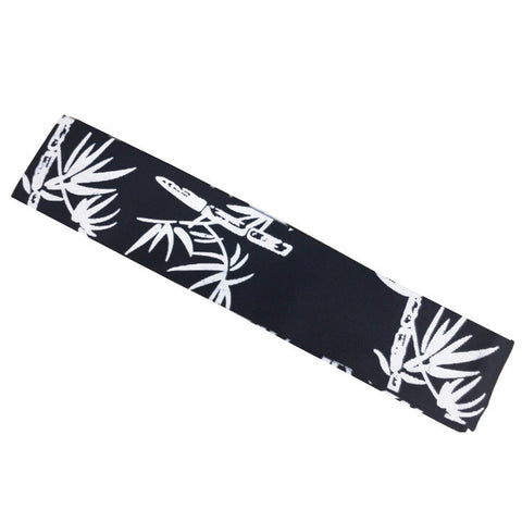 Bamboo Prints on Dark Blue Headband