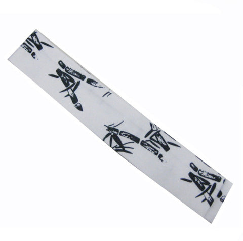 Sushi chef headband Bamboo Prints on white - Fashion Designz Uniforms