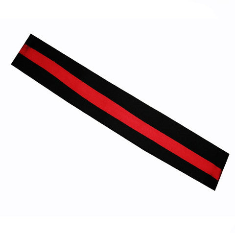 Chef headband Red Stripe on black - Fashion Designz Uniforms