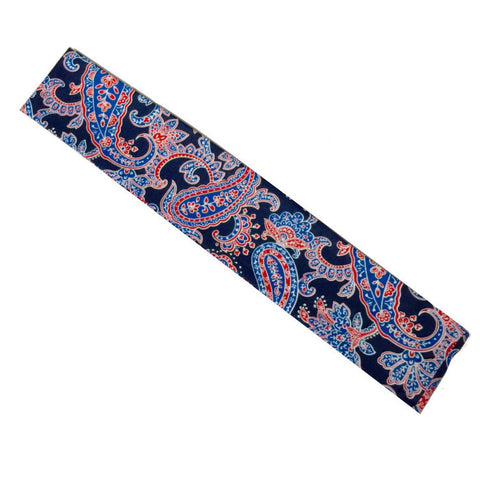 Stylish Restaurant Chef Headband Blue Flower Design - Fashion Designz Uniforms