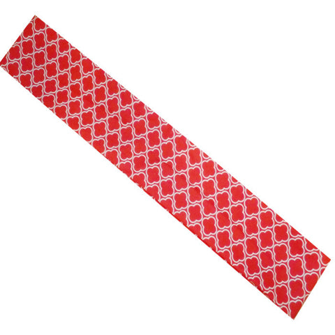 Stylish Restaurant Chef Headband Red with White Design - Fashion Designz Uniforms