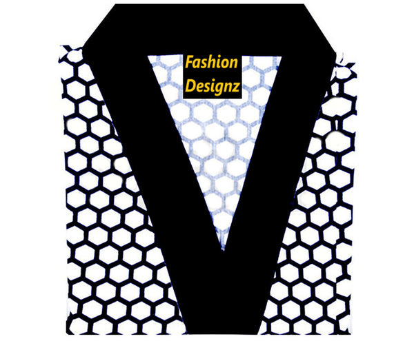 Fashion Designz Sushi chef coat Dot prints on white - Fashion Designz Uniforms