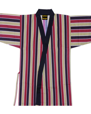 Fashion Designz Sushi Chef Serving Short Kimono Stripe prints 35% OFF - Fashion Designz Uniforms