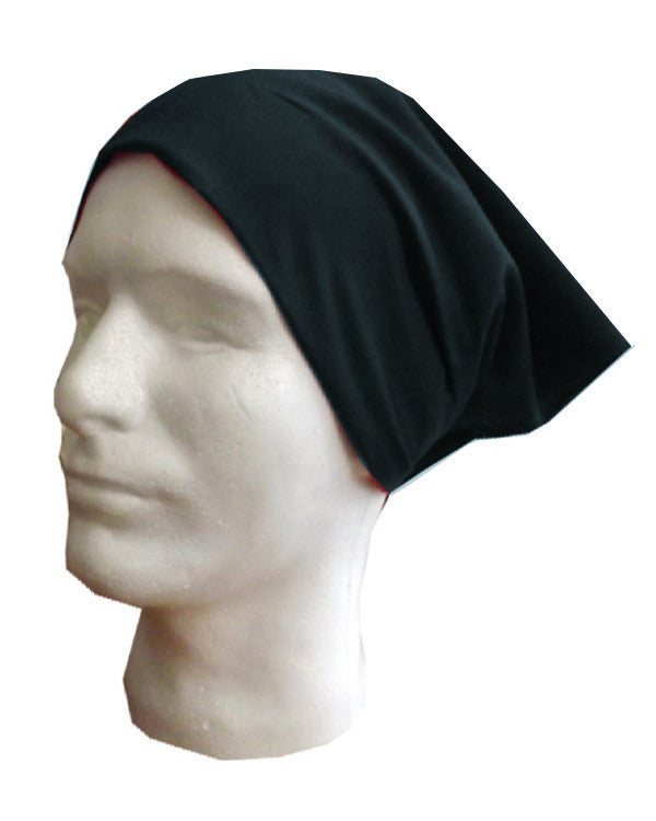 Adjustable Chef Head Wrap with Elastic Black Color - Fashion Designz Uniforms