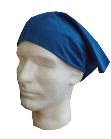 Adjustable Chef Head Wrap with Elastic Blue Color - Fashion Designz Uniforms