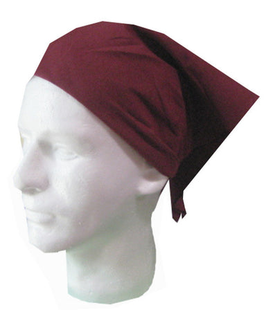Adjustable Restaurant Server Head Wrap Burgundy Color - Fashion Designz Uniforms