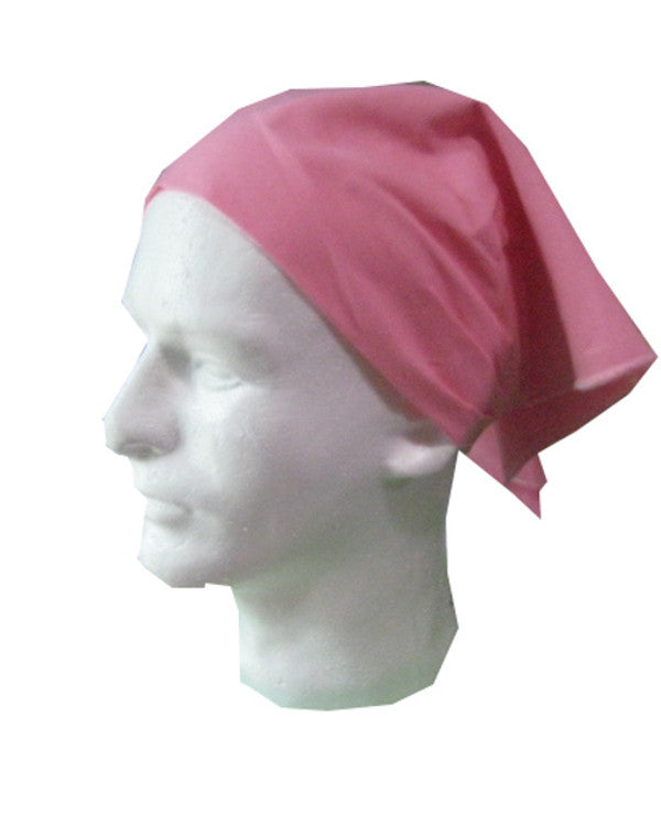 Adjustable Restaurant Server Head Wrap Pink Color - Fashion Designz Uniforms