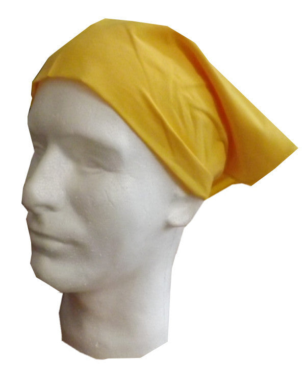 Adjustable Restaurant Server Head Wrap Yellow Color - Fashion Designz Uniforms