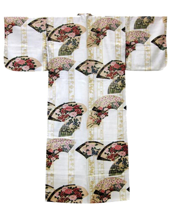 Traditional Japanese Kimono Fan White - Fashion Designz Uniforms