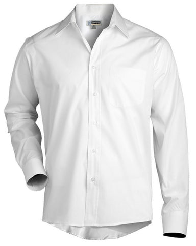 Men's Broadcloth Long Sleeve Shirt - Fashion Designz Uniforms