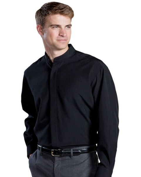 Men's Batiste Banded Collar Shirt - Fashion Designz Uniforms