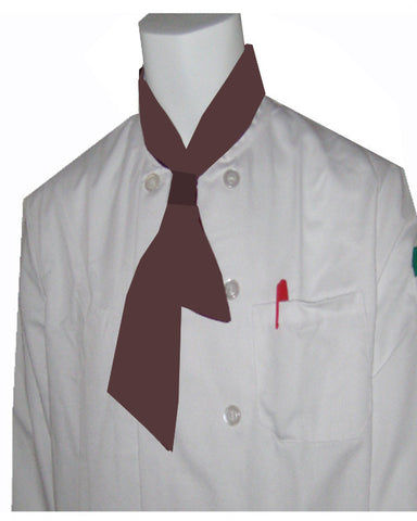 Restaurant Chef Necktie with Knot Burgundy Color - Fashion Designz Uniforms