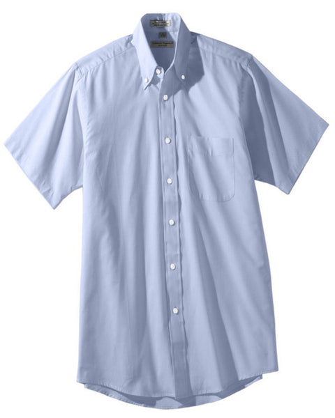 Men's Pinpoint Oxford Short Sleeve Blouse - Fashion Designz Uniforms