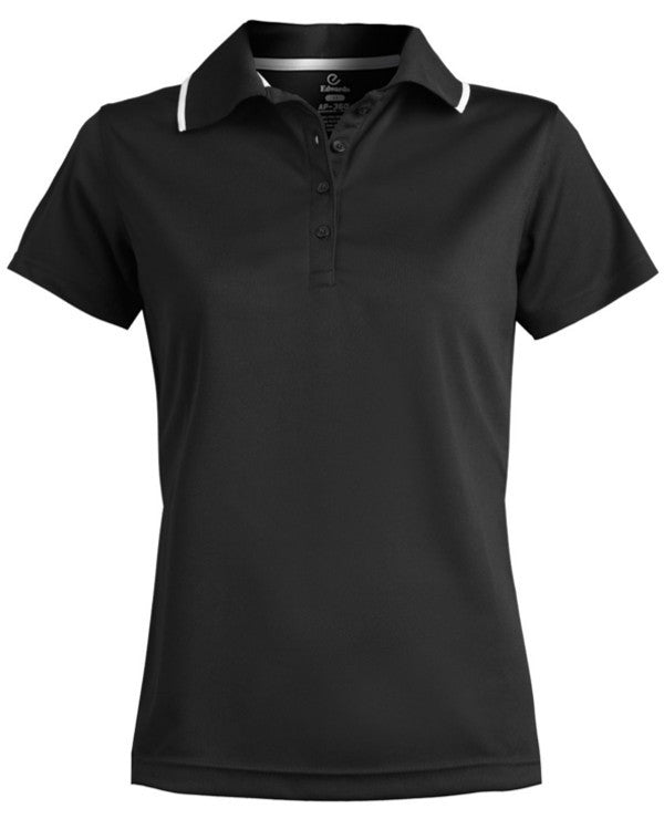 Ladies Mesh Polo Short with Tipped Collar - Fashion Designz Uniforms
