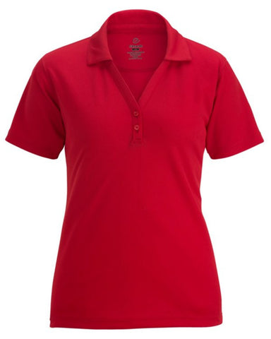 Ladies Johnny Collar Mesh Polo Shirt