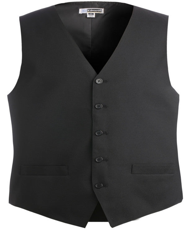 Men's Economy Vest with textured weave - Fashion Designz Uniforms