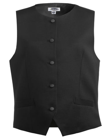 Ladies' Bistro Vest Black Color - Fashion Designz Uniforms