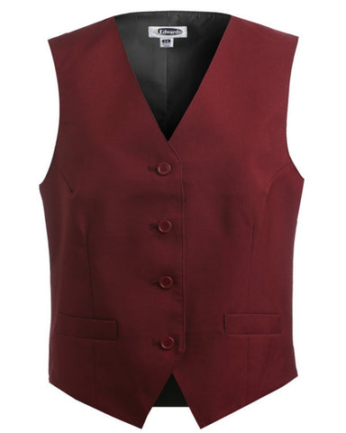 Ladies' Economy Vest textured weave - Fashion Designz Uniforms