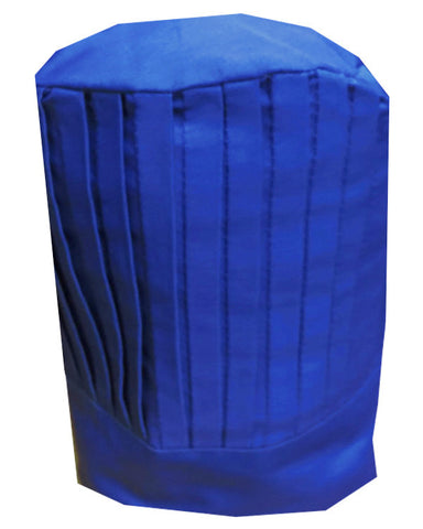 Solid Top Chef Pleated Tall Hat Blue Color