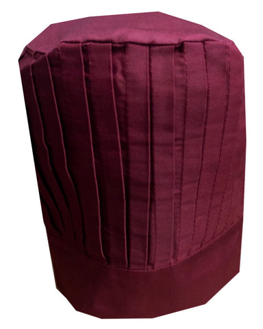 Solid Top Chef Tall Hat Burgundy Color