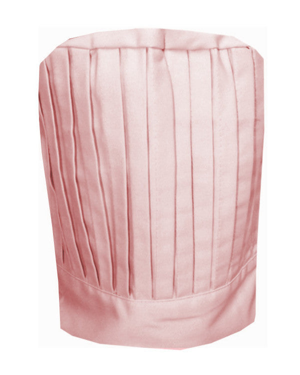Fashion Designz Chef Pleated Tall Hat Pink Color - Fashion Designz Uniforms