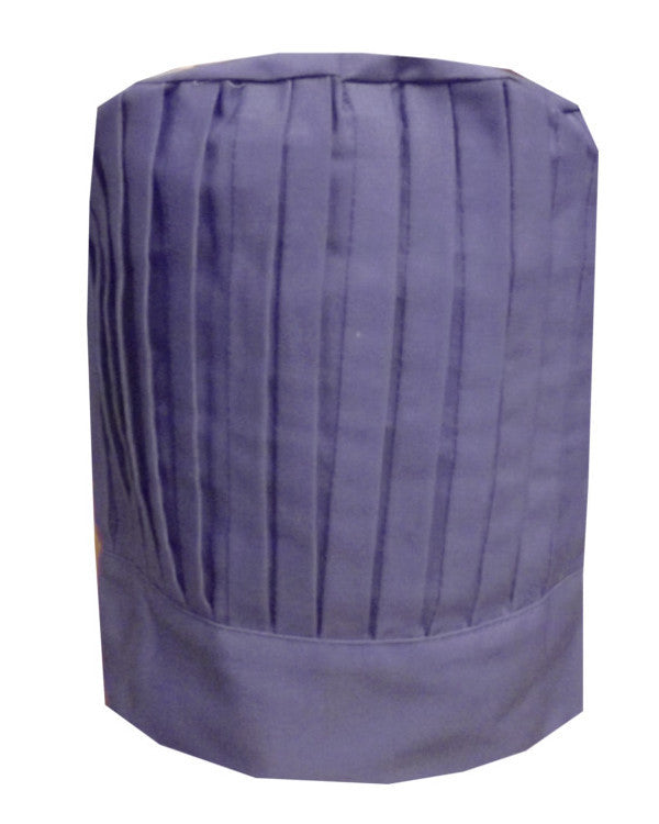 Restaurant Chef Pleated Tall Hat Purple Color - Fashion Designz Uniforms