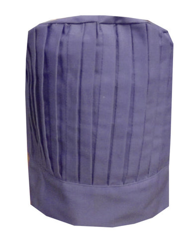Solid Top Hibachi Chef Pleated Tall Hat Purple Color - Fashion Designz Uniforms
