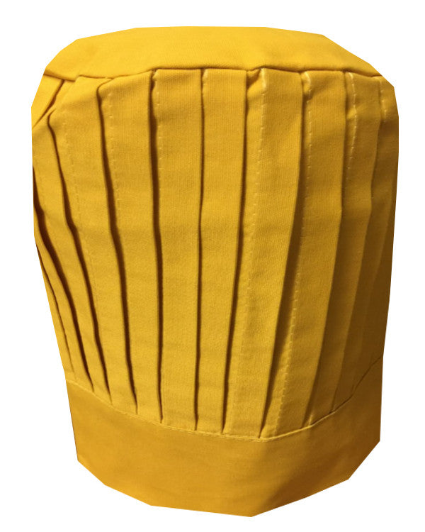 Fashion Designz Chef Pleated Tall Hat Yellow Color