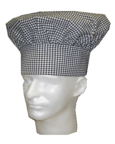 Restaurant Chef Mushroom top hat Houndstooth White - Fashion Designz Uniforms