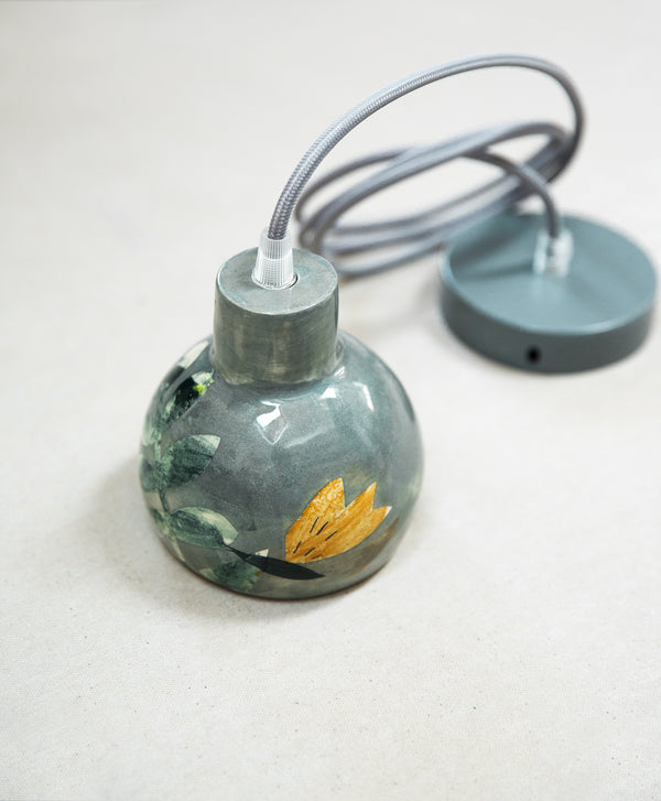 Hand Painted Ceramic Pendant Light