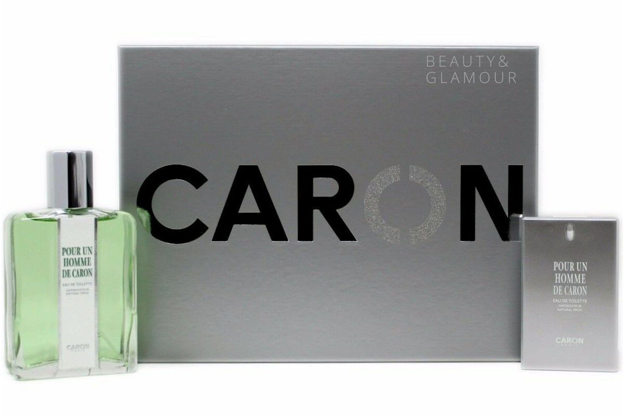 POUR UN HOMME CARON 2 PIECE GIFT SET FOR MEN W/EAU DE TOILETTE SPRAY 125ML